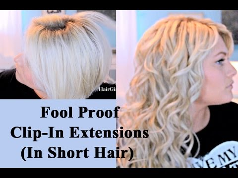 Easiest Way To Blend Extensions In Short Hair!