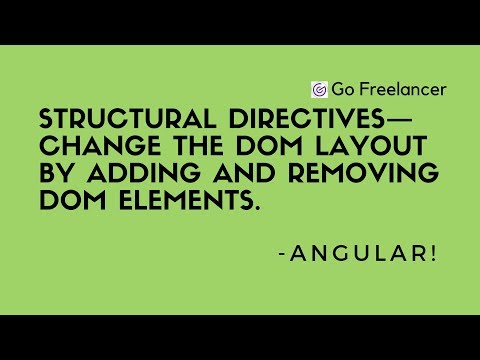 Structural Directives in Angular and its uses