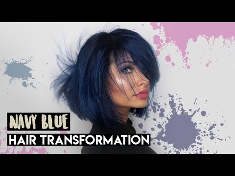 NAVY /DENIM INK BLUE HAIR TRANSFORMATION VLOG | Talia Mar
