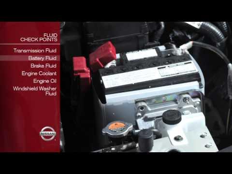 2012 NISSAN Versa Sedan - Fluid Check Points