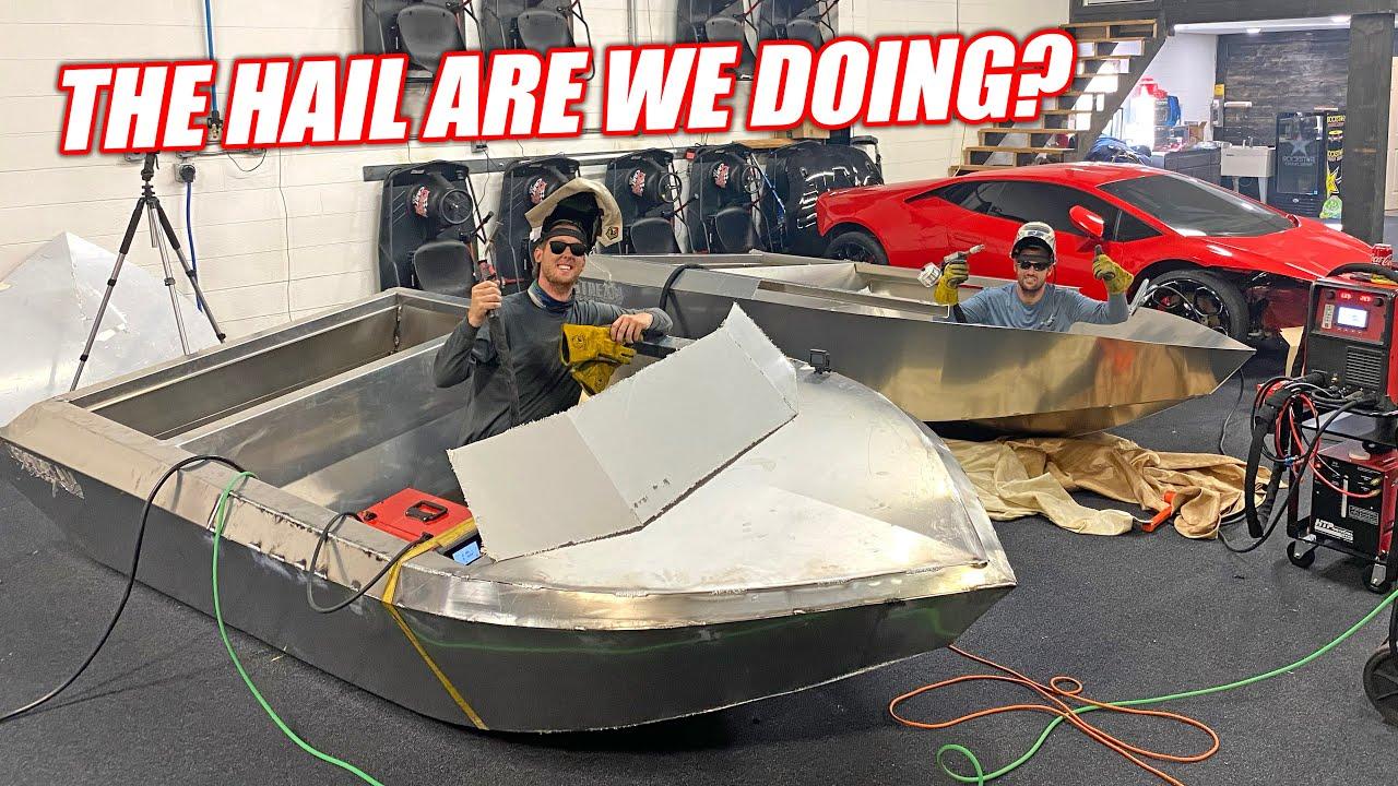 Mini Jet Boat Build Part 1: Florida Men Hand Build Supercharged Aluminum Jet Boats!!!
