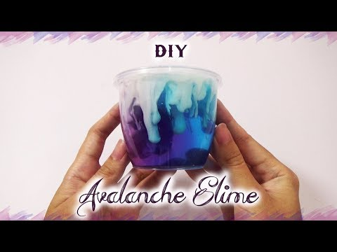 DIY Avalanche Slime Tutorial | How to Make Avalance Slime