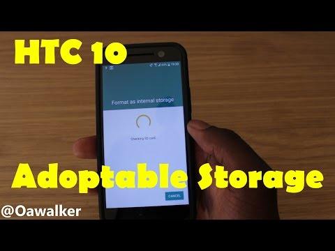 HTC 10 - Setting up Adoptable Storage (Combine SD Card With Phone Storage)