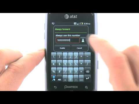 Activate or Deactivate Call Forwarding for the Pantech Crossover™: AT&T How To Video Series