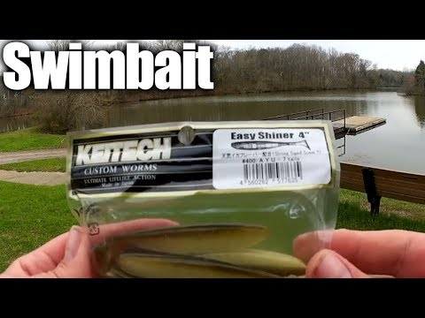 Bass Fishing With a Keitech Swimbait - How To Texas Rig a Swimbait