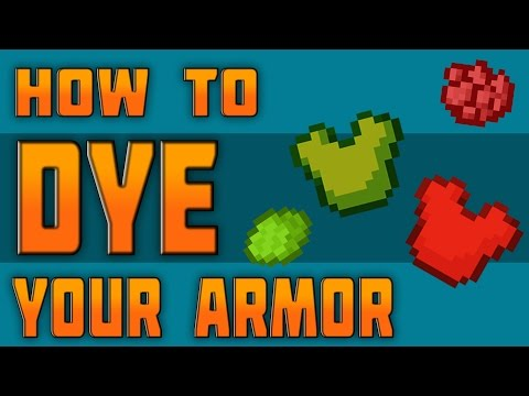 HOW TO DYE ARMOR IN MINECRAFT - Read Description -
