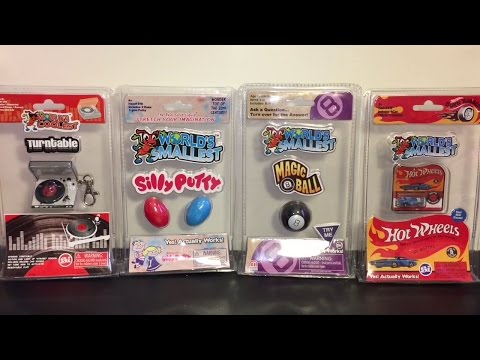 Worlds Smallest Toys Record Player Silly Putty Magic 8 Ball Hot Wheels Car | Review