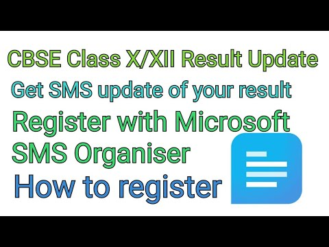 How to check CBSE class 10/12 result through Microsoft SMS Organiser, CBSE Class 10/12 Result Update
