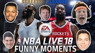 THE HOUSE PLAYS NBA LIVE 18 FUNNY MOMENTS!