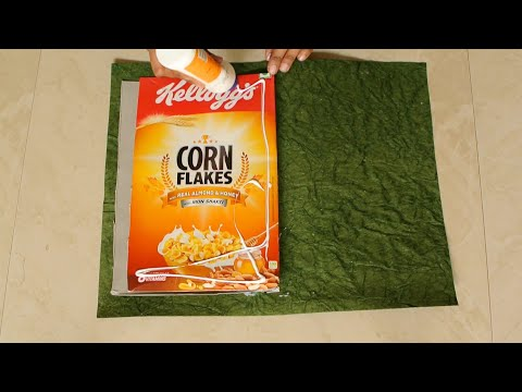 DIY How to reuse Cornflakes box and make Note / Slam Book