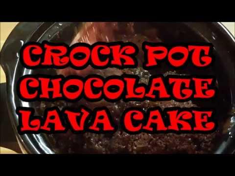 CROCK POT CHOCOLATE LAVA CAKE, RICHARD IN THE KITCHEN