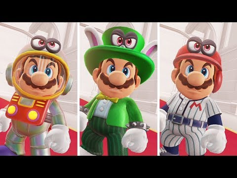 Super Mario Odyssey - Bowser's Reaction to New Outfits
