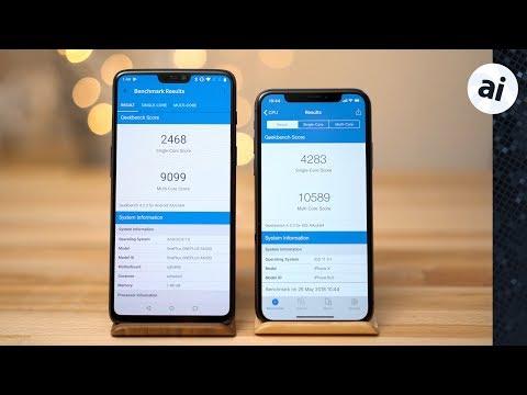 iPhone X vs OnePlus 6 Benchmark Comparison