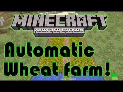 How to build an automatic wheat farm! Minecraft xbox 360 edition tutorial | HD