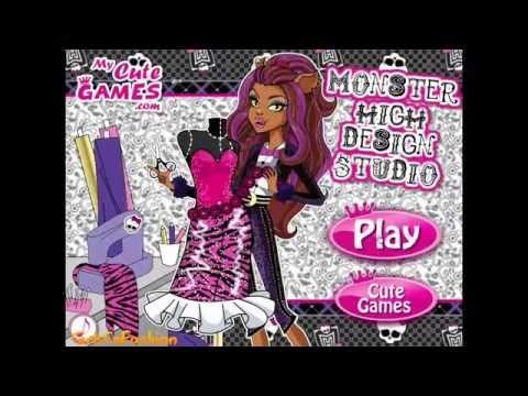Monster High Design Studio Dress Up Game - Online Girl Games