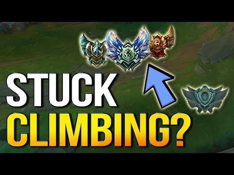 STUCK CLIMBING? How to fix it and carry more or find what's wrong (League of Legends)