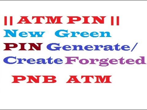 How To New Regenrate/Create New PNB ATM PIN Easily HD 720P,1080P