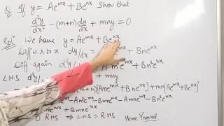 Higher Order Derivative Maths Cbse/icse Board Class 12/x11