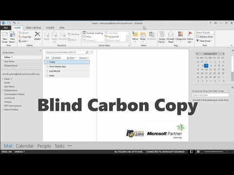 Outlook 2013: Consider Using the Bcc Field
