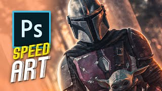 The Mandalorian Speed Art photoshop