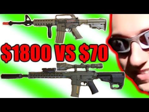 $1800  Airsoft gun Vs $70 Airsoft gun Worth it?