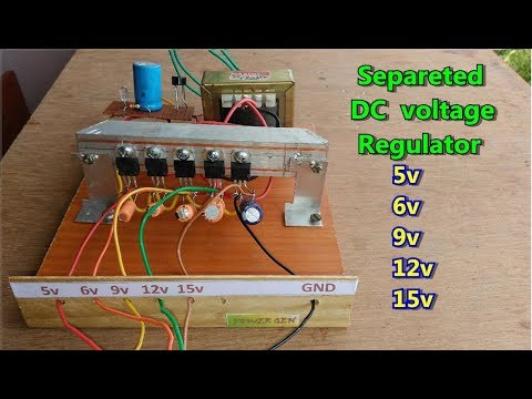 DIY | simple separated DC voltage regulator 5v,6v,8v,9v,12v,15v etc.. easy to make at home
