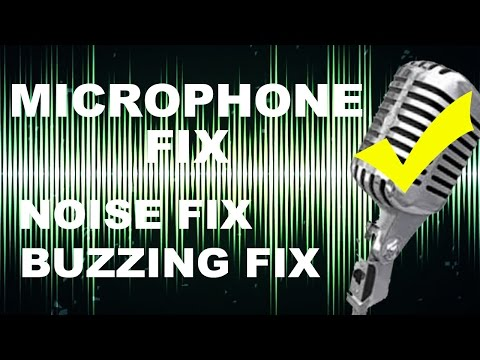 How to fix or remove background noise,Buzzing sound while recording through microphone on windows Pc