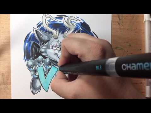 Vaylor Bust Badge Commission Time Lapse