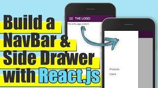 ReactJS - Build a Responsive Navigation Bar & Side Drawer Tutorial