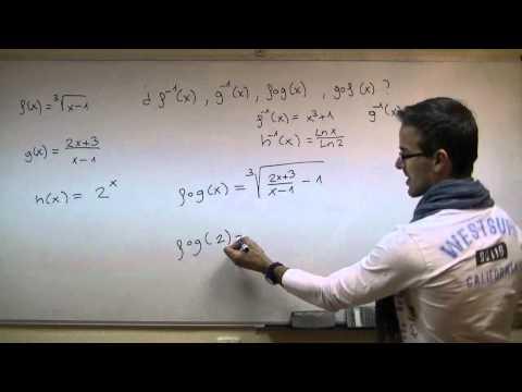 Composicion de funciones y Funcion Inversa SECUNDARIA (3ºESO) matematicas