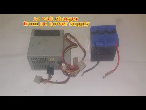 How To Make 12 volt 5 Amp battery charger with pc power supply