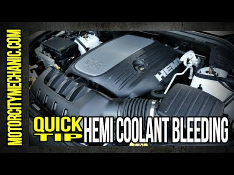 Quick Tip: 5.7 Hemi coolant bleeder location and fill procedure
