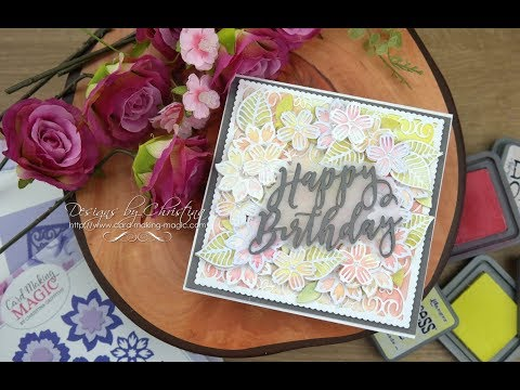 6x6 Collection - Floral Wreath from Card Making Magic