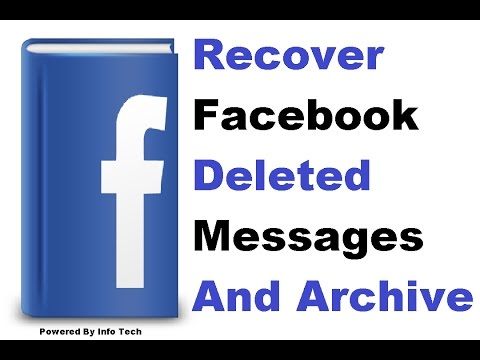 How To Get Back Delete Messages/Data On FACEBOOK