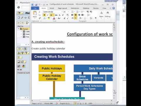 SAP_ HR Time Management-Work schedule-session 6