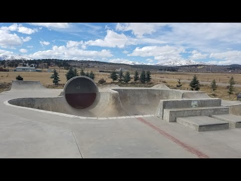 One run through at the Fairplay Colorado skatepark on my dirt jumper