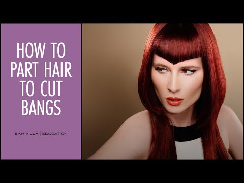 How to Part Hair to Cut Bangs