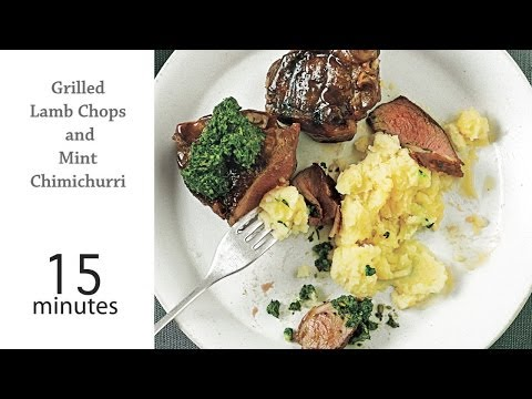 How to Grill Lamb Chops and Mint Chimichurri | MyRecipes
