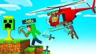 HELICOPTER vs. SPEEDRUNNER In MINECRAFT! (Insane)