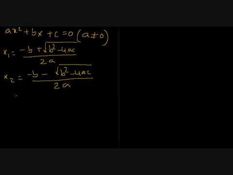 sum and product of roots of quadratic equation