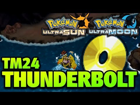 How to Get Thunderbolt Location – Pokemon Ultra Sun and Moon TM 24 Thunderbolt Location