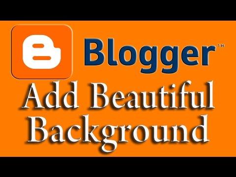 Change Background of Website: Blogger Web design Tutorial #3