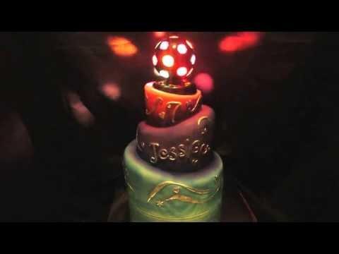 Spinning Disco Ball Cake
