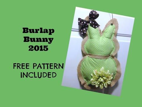 Burlap Bunny Door Hanging 2015