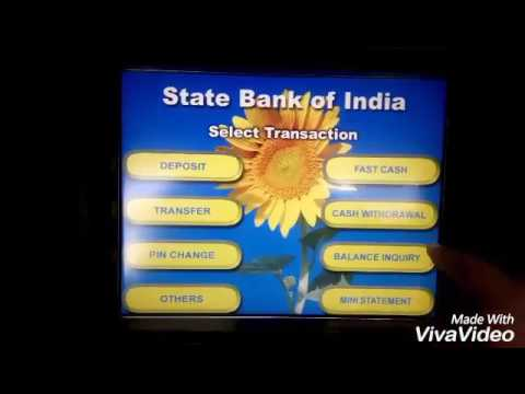 How to withdraw money from SBI atm?