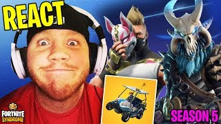 TIMTHETATMAN REACTS TO ALL NEW SEASON 5 SKINS AND ITEMS! - Fortnite Moments #136