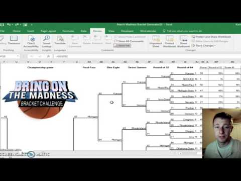 2017 NCAA Tournament Bracket Generator Excel