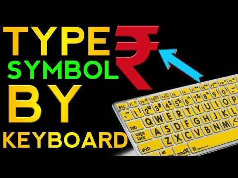 how to type rupee symbol in keyboard
