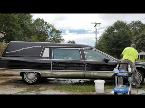 Detailing  a hearse