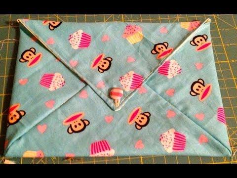 DIY : Homemade Fabric Envelope Bag